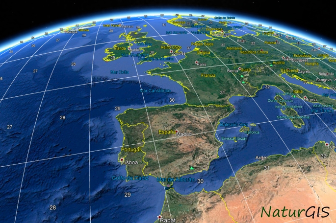 Huso UTM Google Earth NaturGIS