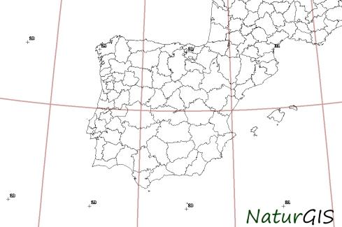Husos UTM Península Ibérica NaturGIS