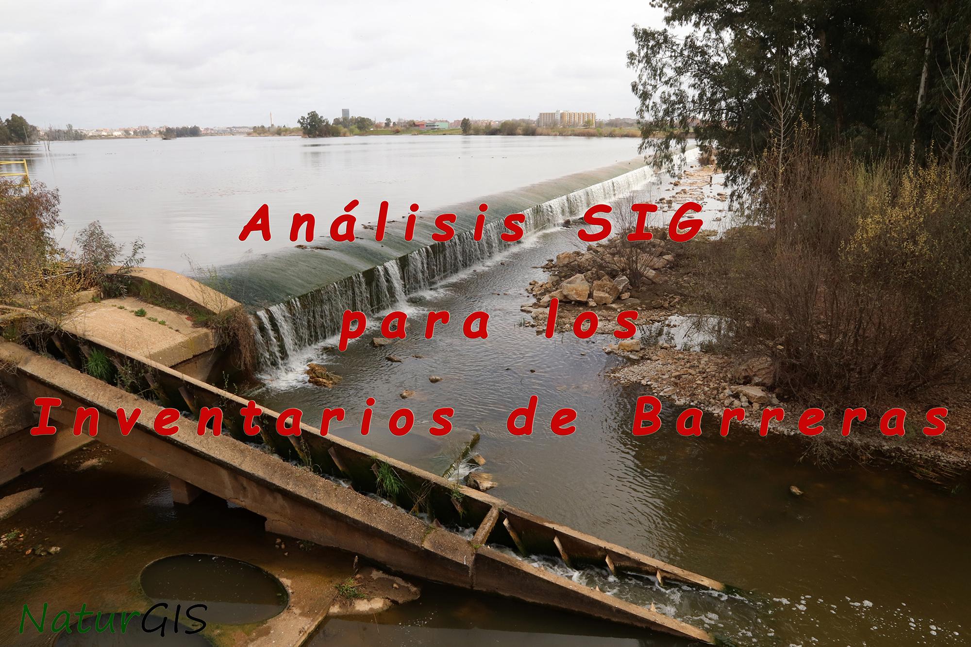 Inventarios de Barreras SIG GIS NaturGIS Extremadura