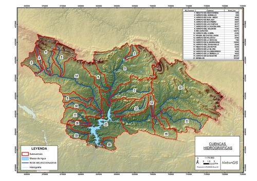Mapa_Cuencas Hidrográficas Inventarios de Barreras SIG GIS NaturGIS