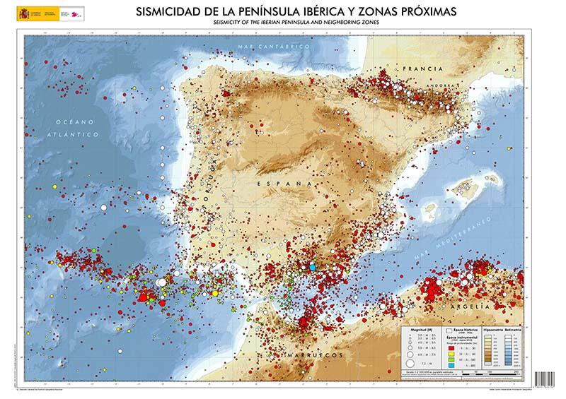 Mapa de peligro de terremotos NaturGIS