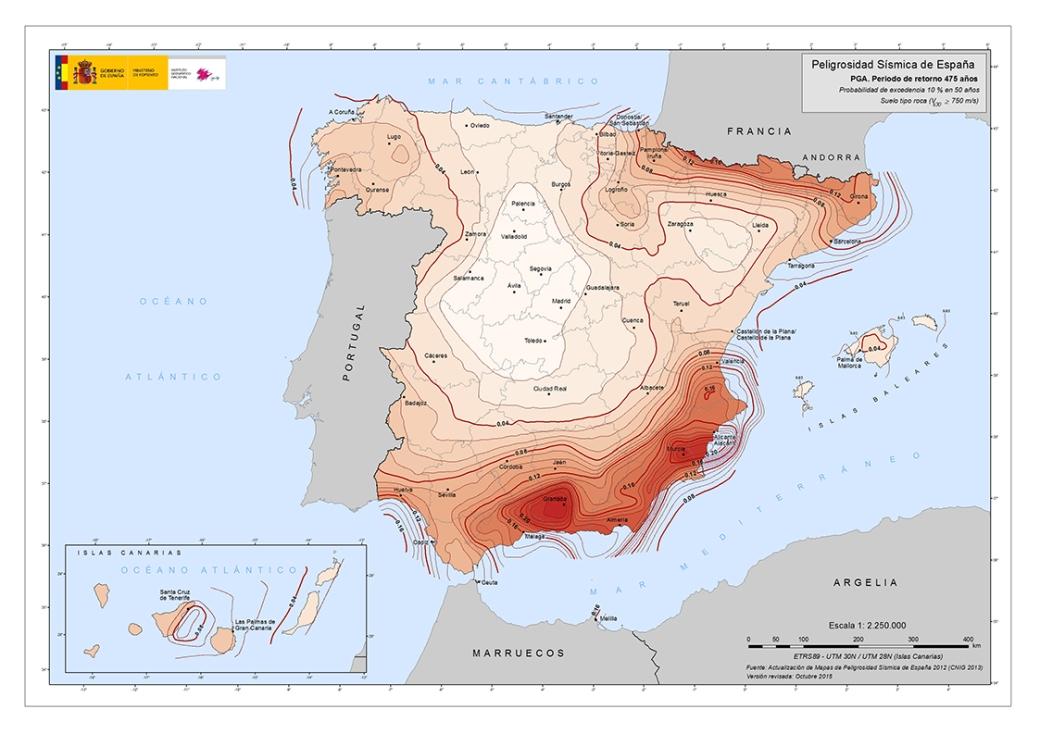 Probabilidad Sísmica de Terremoto NaturGIS