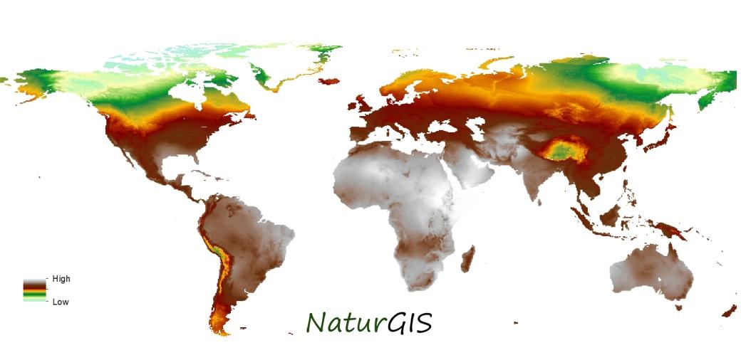 Mapa mundial del isótopo de deurterio en precipitación naturgis