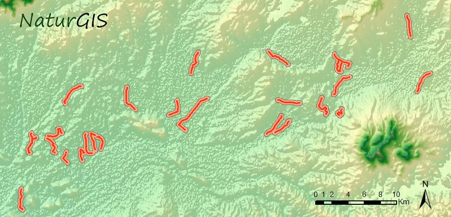 Transectos de campo para el censo de Grullas en Extremadura NaturGIS