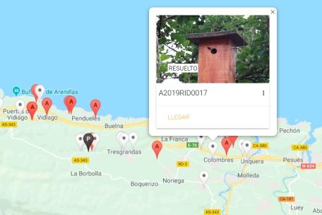Ejemplo de la aplicación Avisap en Asturias