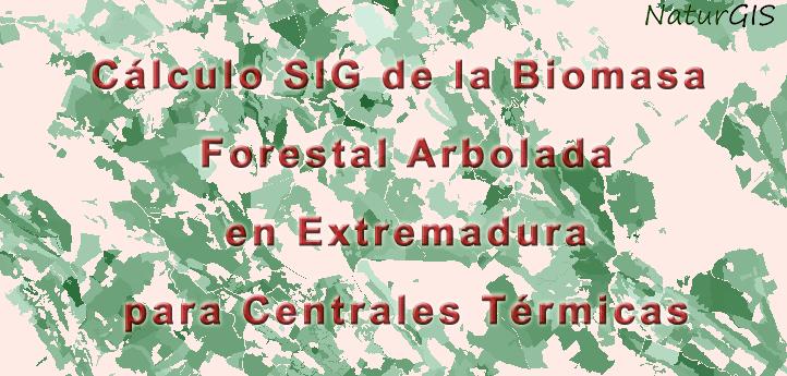 Cálculo SIG de la Biomasa Forestal Arbolada en Extremadura para Centrales Térmicas