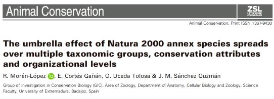 Efecto paraguas de la Red Natura 2000 en Extremadura